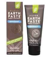 Earthpaste Amazingly Natural Toothpaste Peppermint with Activated Charcoal - 4 oz.