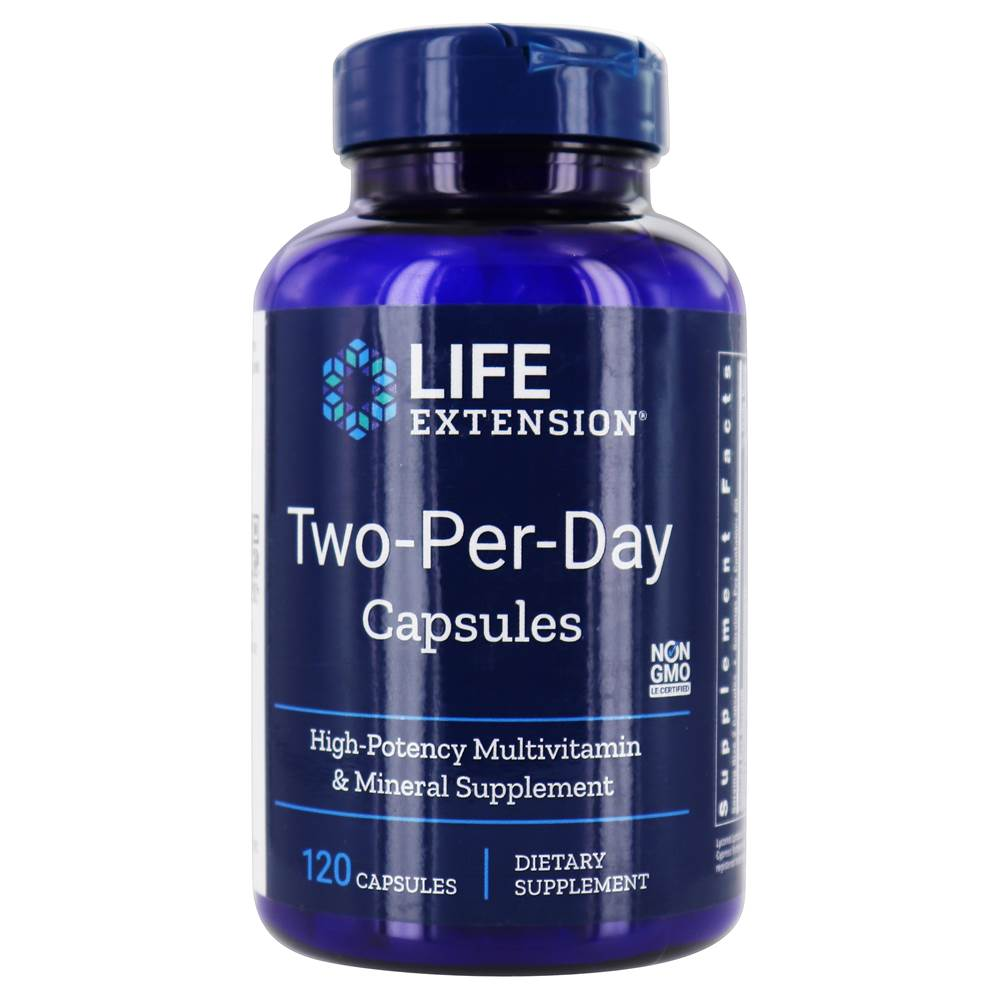 Two-Per-Day Capsules High Potency Multivitamin & Mineral Supplement - 120 Capsules