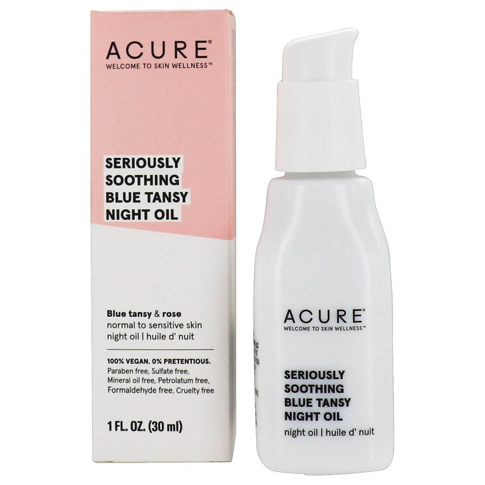 ACURE - Seriously Soothing Blue Tansy Facial Night Oil - 1 fl. oz.