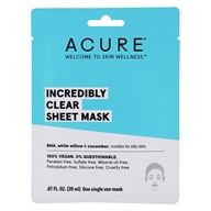 ACURE - Incredibly Clear Facial Sheet Mask with Clearing Elixir + Charcoal Infused Fiber - 1 Sheet(s)