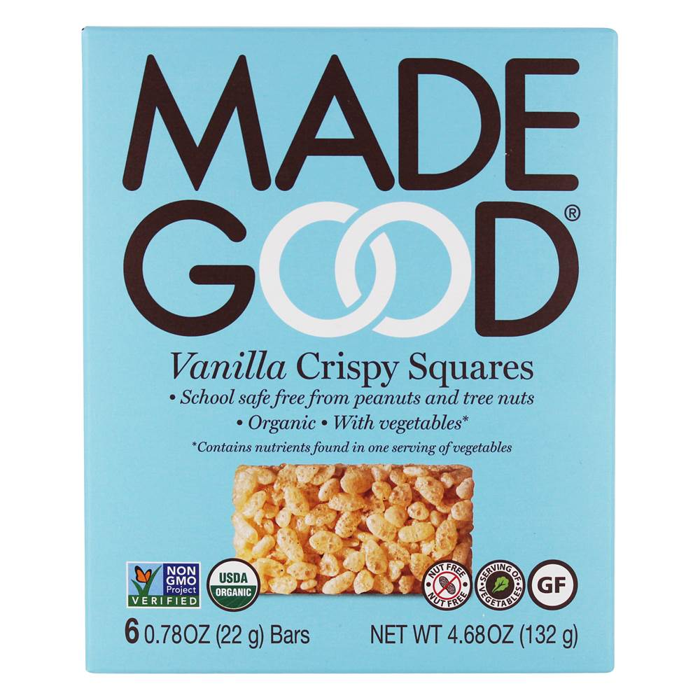 Made Good - Organic Crispy Squares Vanilla - 6 Bars