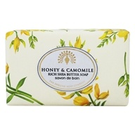 Rich Shea Butter Bar Soap Honey & Camomile - 7 oz. by The English Soap Company