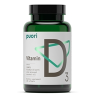 Puori - D3 Vitamin D3 with Cold-Pressed Coconut Oil 2500 IU - 120 Softgels