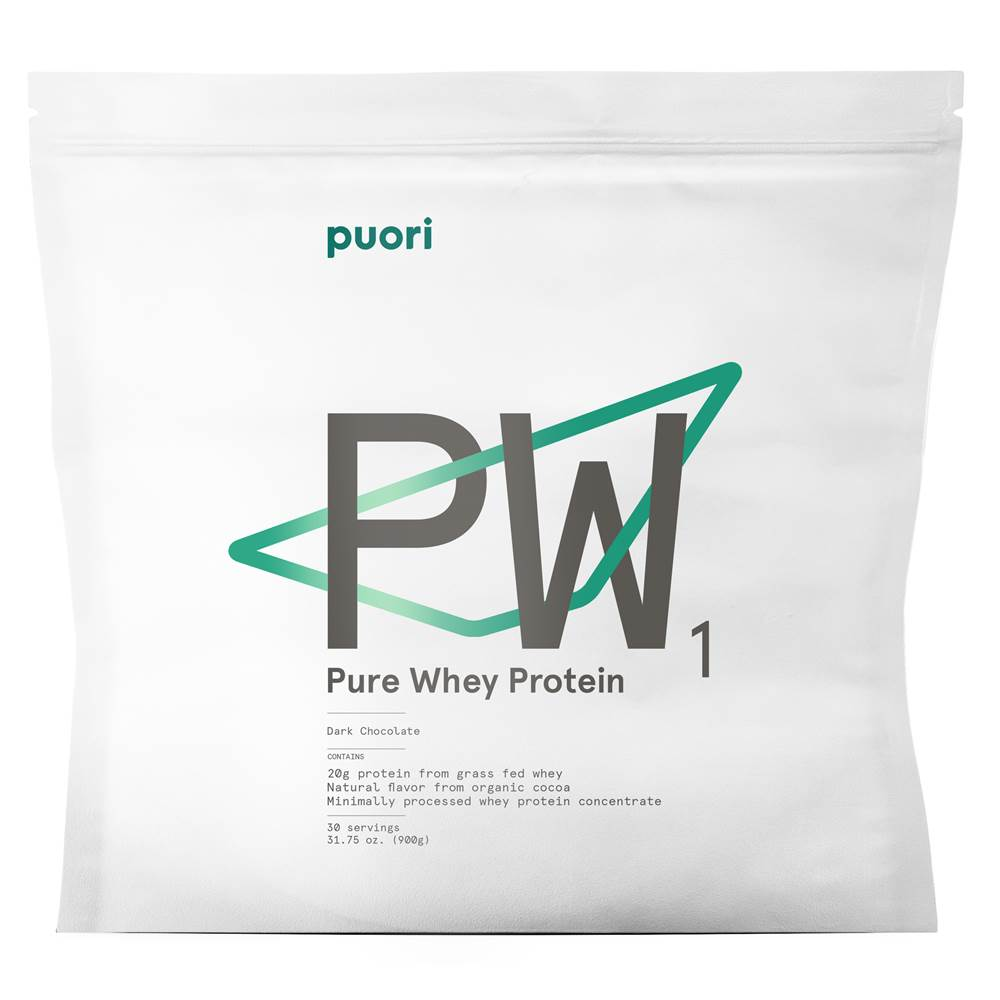 Puori - PW1 Pure Grass-Fed Whey Protein Powder Dark Chocolate - 31.75 oz.