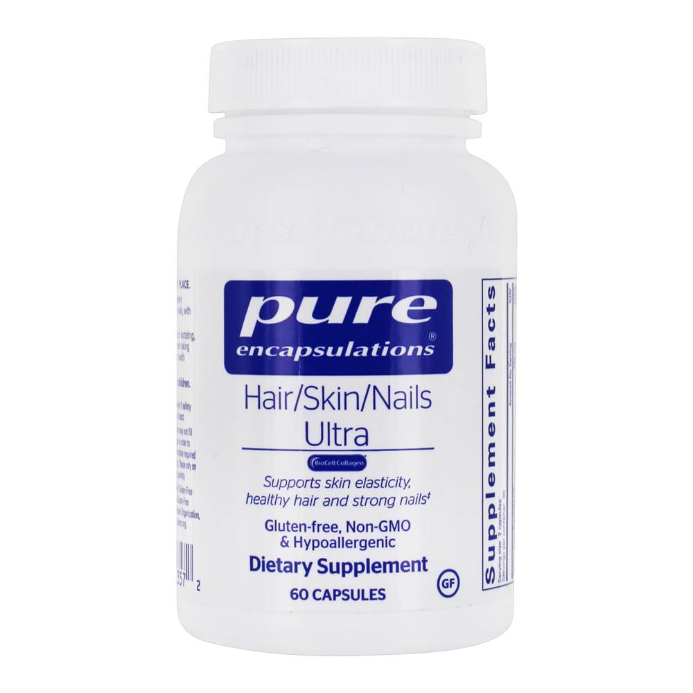 Pure Encapsulations - Hair/Skin/Nails Ultra BioCell Collagen - 60 Capsules