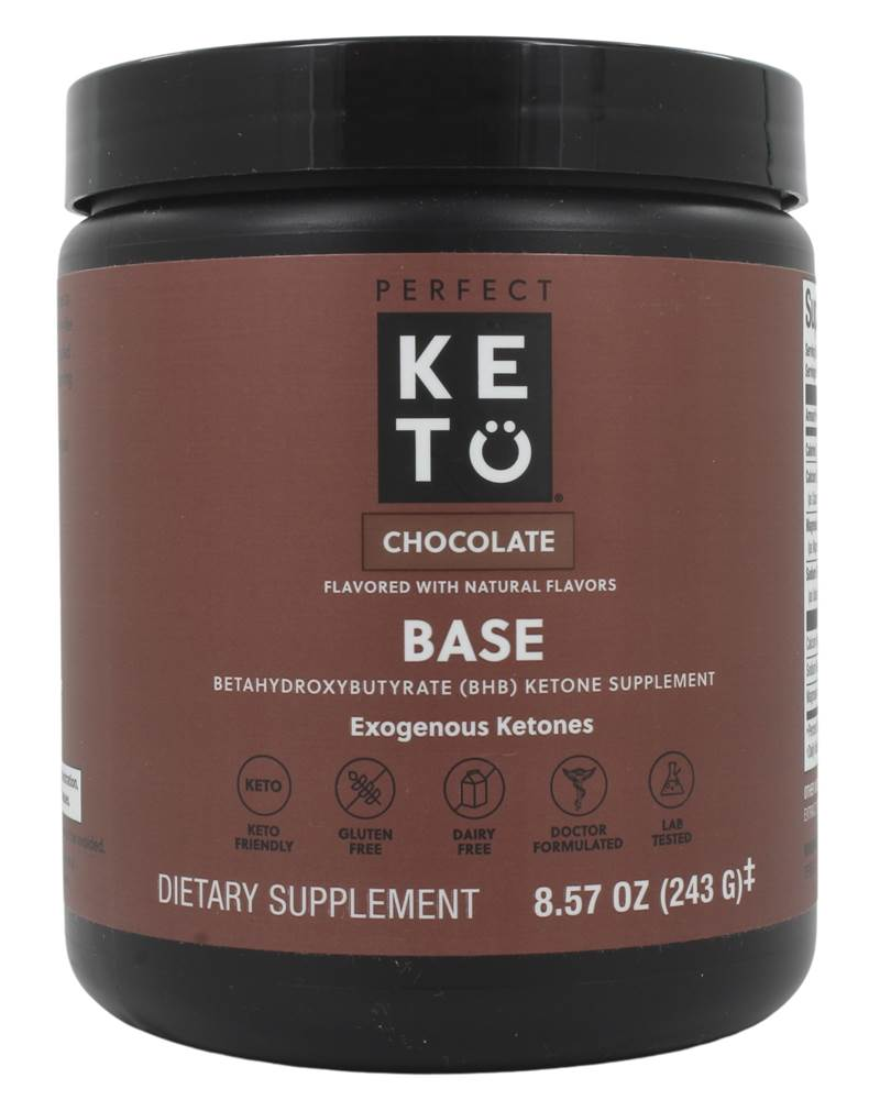 Perfect Keto - Base Exogenous Ketones Powder Chocolate - 8.4 oz.