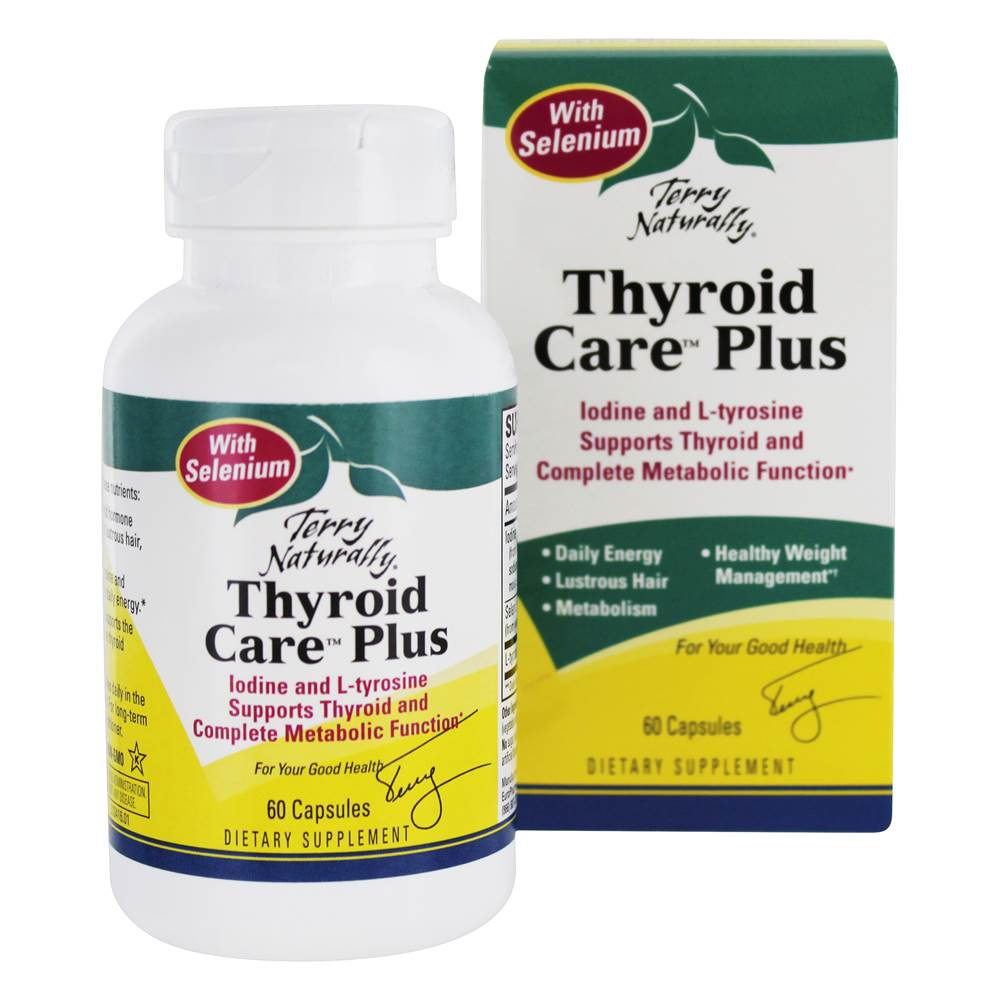 Terry Naturally Thyroid Care Plus Complete Metabolic Function - 60 Capsules