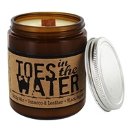 Toes in the Water Soy Wax Candle Salty Air, Tobacco & Leather & Black Pepper - 8 oz.