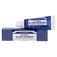 All-One Toothpasteフッ化物フリーペパーミント-1オンス。 Dr. Bronners