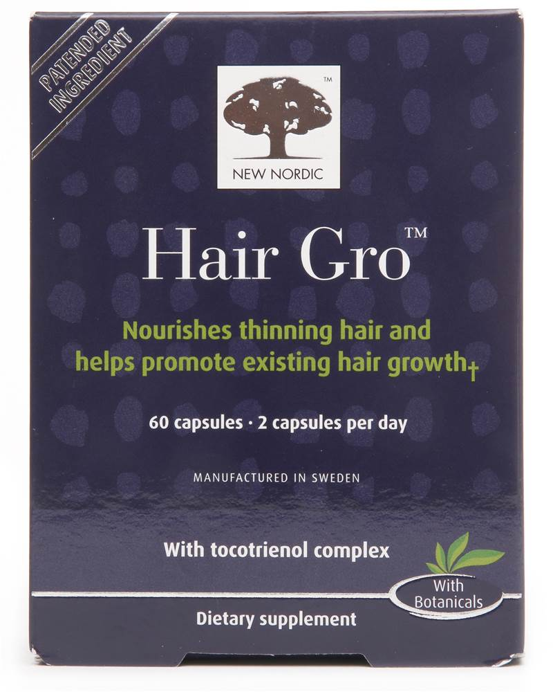 Hair Gro Hair Growth Supplement with Tocotrienol Complex - 60 Capsules by New Nordic