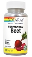 Fermented Beet Whole Root Organically Grown 500 mg. - 100 Vegetable Capsule(s)