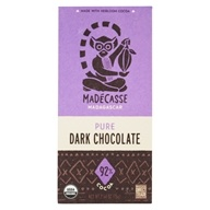 Dark Chocolate Bar Pure 92% Cocoa - 2.64 oz. by Madecasse