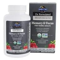 Dr. Formulated Brain Health Memory & Focus per giovani adulti - 60 Tablet(s) by Garden of Life