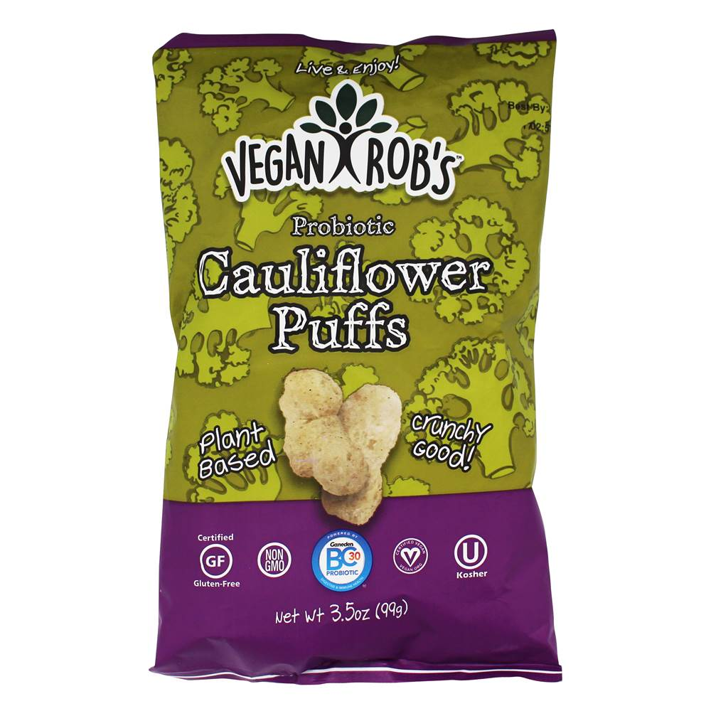 Probiotic Cauliflower Puffs - 3.5 oz. by Vegan Rob's