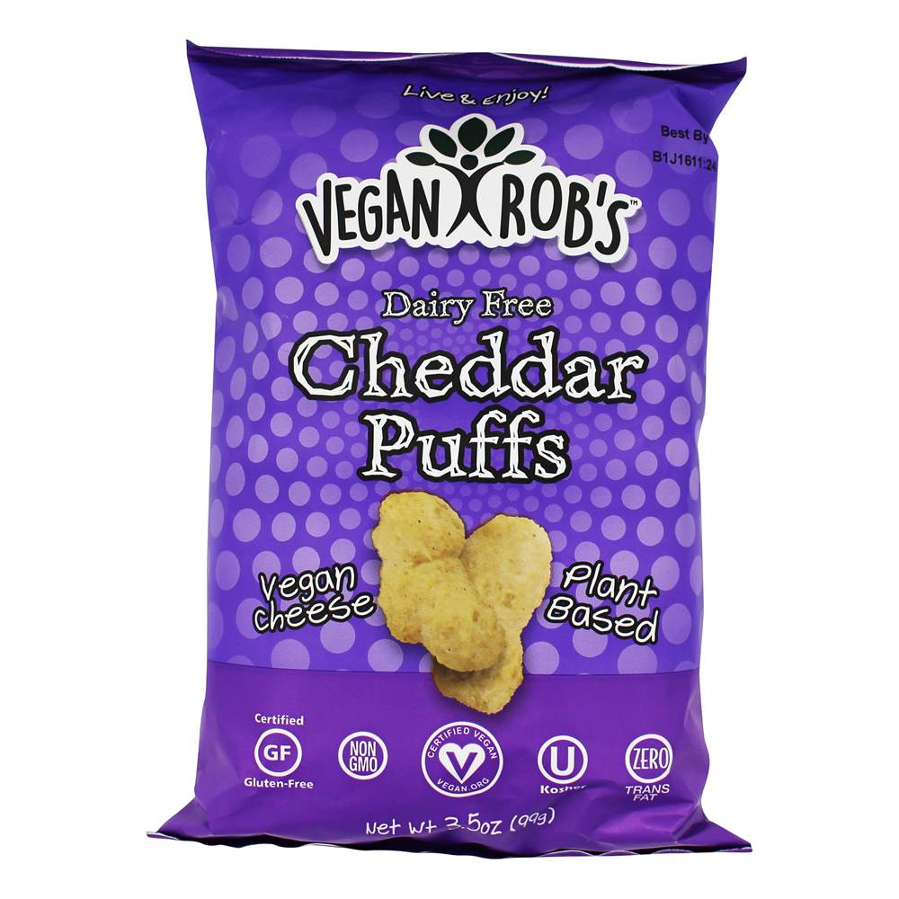 Dairy Free Cheddar Puffs - 3.5 oz. by Vegan Rob's