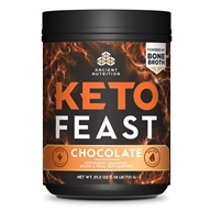 Ancient Nutrition - Keto Feast Ketogenic Balanced Shake & Meal Replacement Powder Chocolate - 25.2 oz.