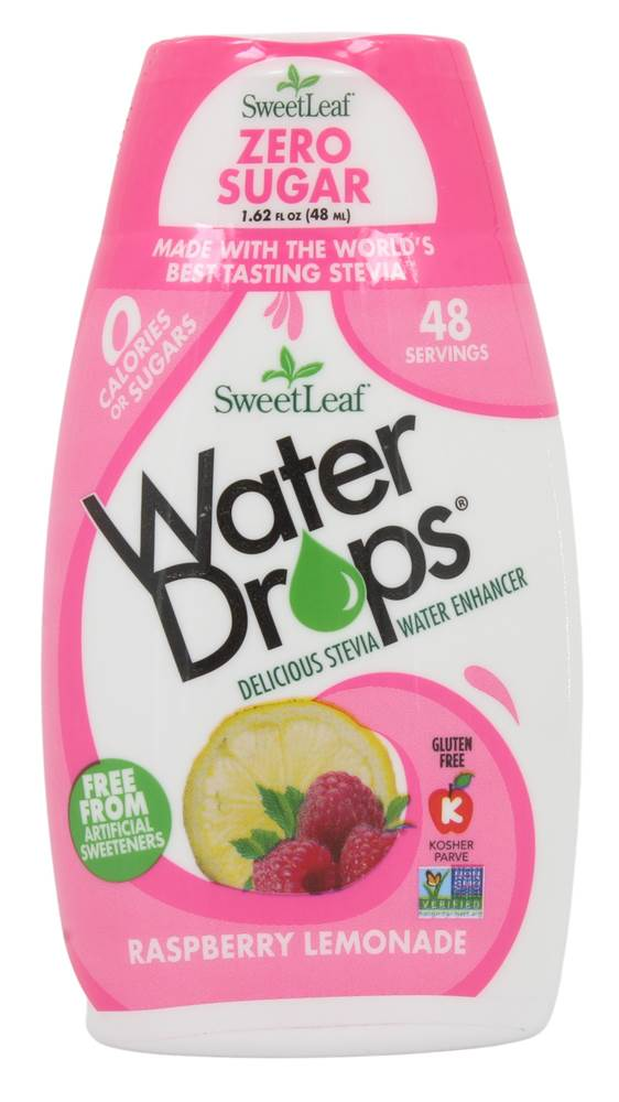 Gouttes d'eau Stevia Water Enhancer Raspberry Lemonade - 1.62 fl. oz. by SweetLeaf