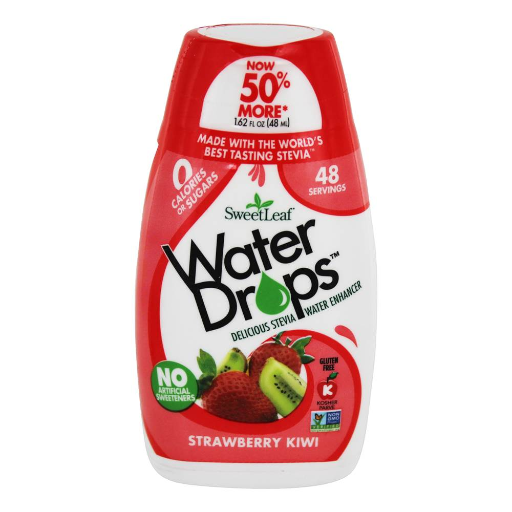 Gouttes d'eau Stevia Water Enhancer Strawberry Kiwi - 1.62 fl. oz. by SweetLeaf