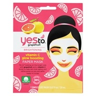 Yes To - Brightening Vitamin C Glow Boosting Facial Sheet Paper Mask Grapefruit - 1 Count