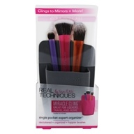 Single Pocket Beauty Expert Organizer for Cosmetic Brushes Grey by Real Techniques