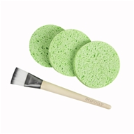 Facial Mask Mates Applicator Brush & Mask Remover Sponges - 4 Piece(s)