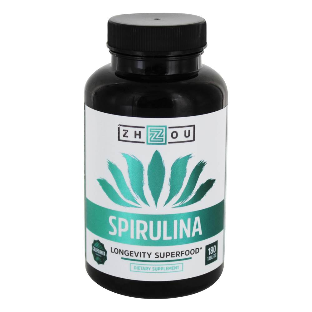 Spirulina Langlebigkeit Superfood - 180 Tablets by Zhou