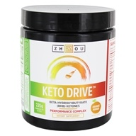 Keto Drive Beta-Hydroxybutrate (BHB) Ketones Powder Orange Mango - 8.29 oz. by Zhou