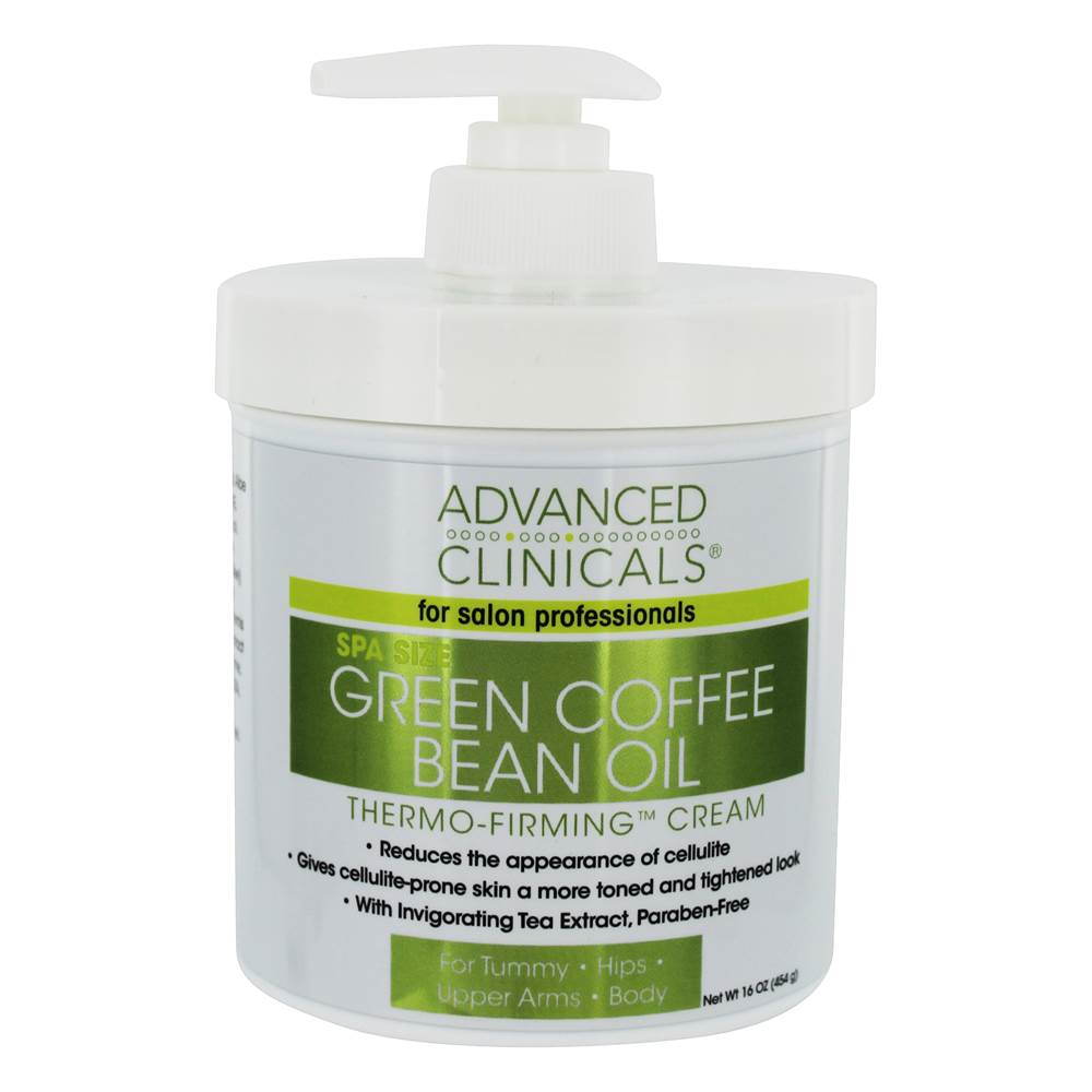 Spa Ukuran Green Coffee Bean Oil Thermo Firming Cream - 16 oz. by Advanced Clinicals