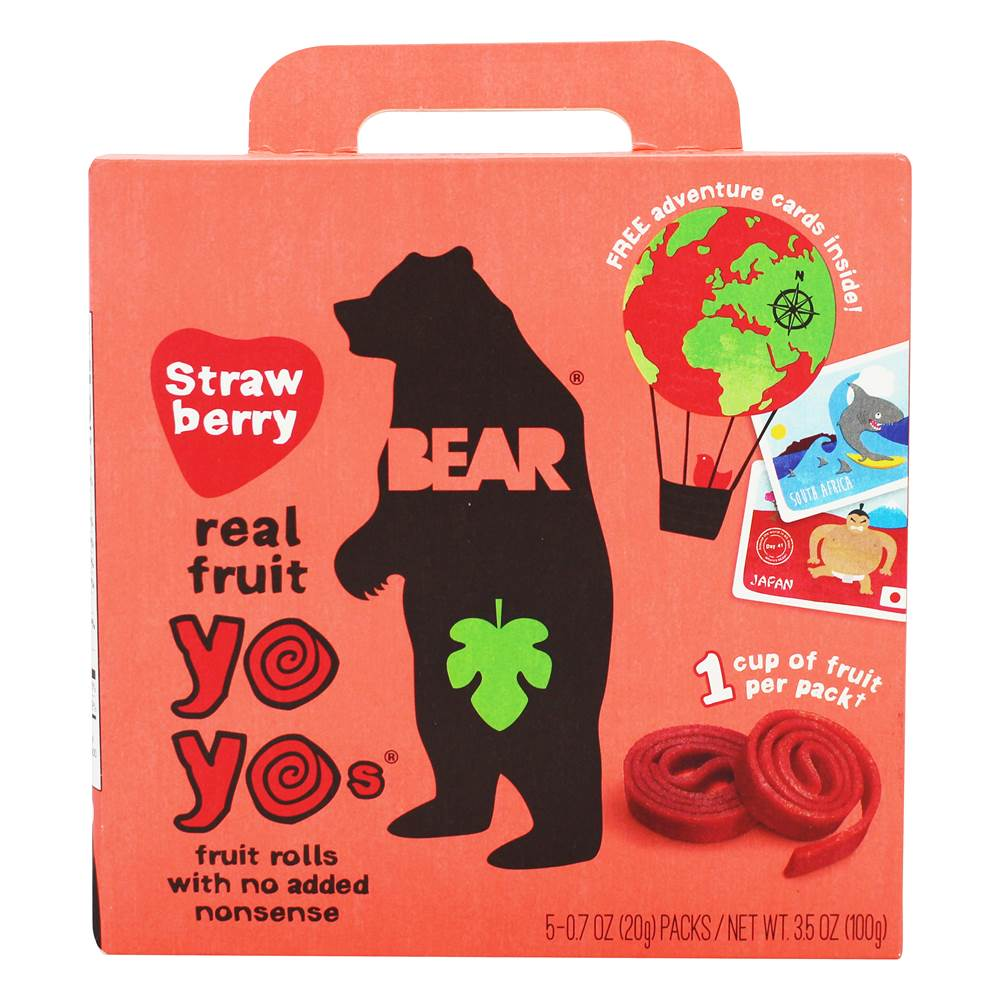 YoYos Real Fruit Rolls Strawberry - 5 Pack(s)