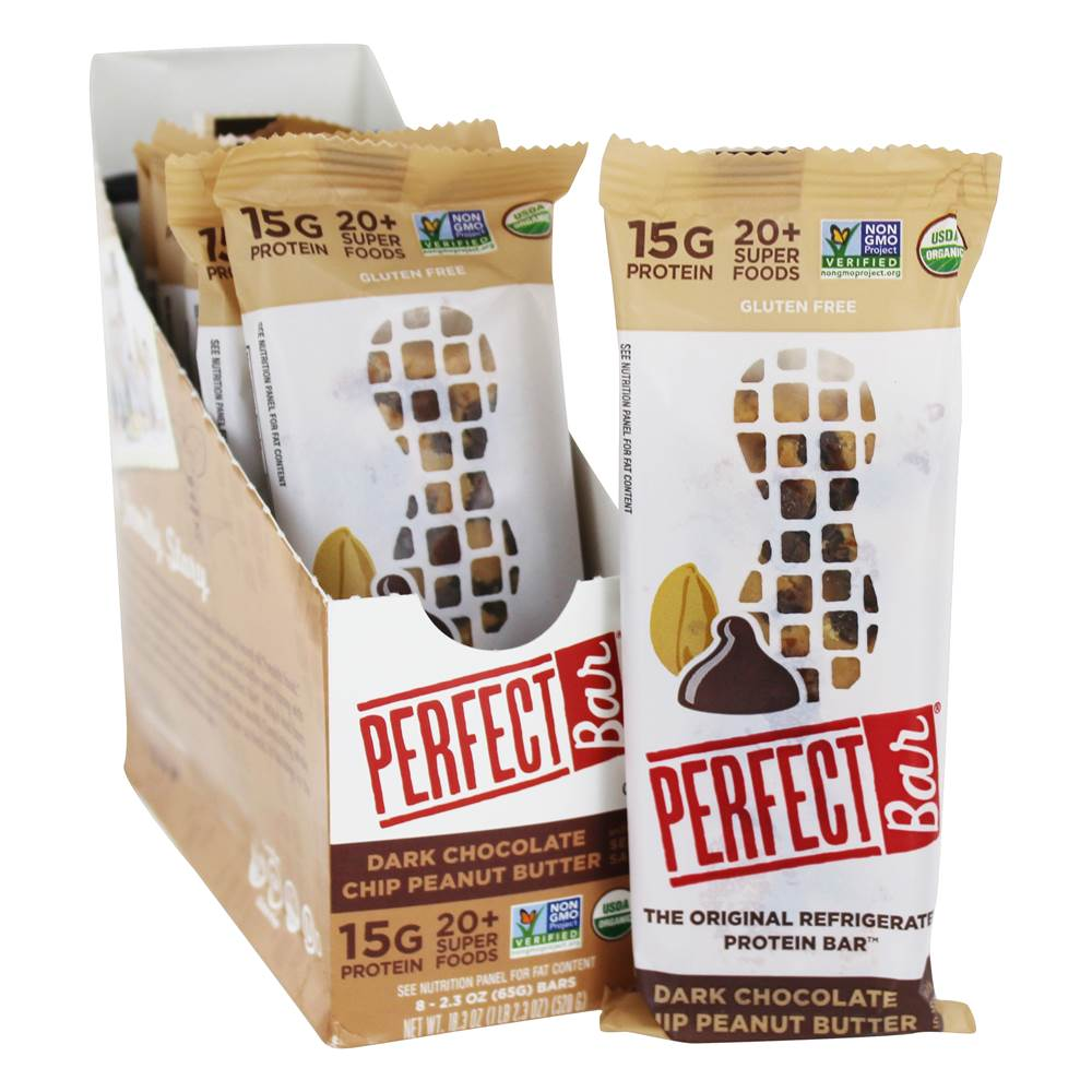 The Original Protein Bars Box Dark Chocolate Chip Peanut Butter with Sea Salt - 8 Bars