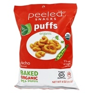 Organic Baked Pea Puffs Nacho - 4 oz. by Peeled Snacks