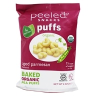 Organic Baked Pea Puffs Aged Parmesan - 4 oz. by Peeled Snacks