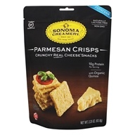 Crunchy Real Cheese Crisps Snacks Parmesan - 2.25 oz. by Sonoma Creamery