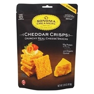 Crunchy Real Cheese Crisps Snacks Cheddar - 2.25 oz. by Sonoma Creamery