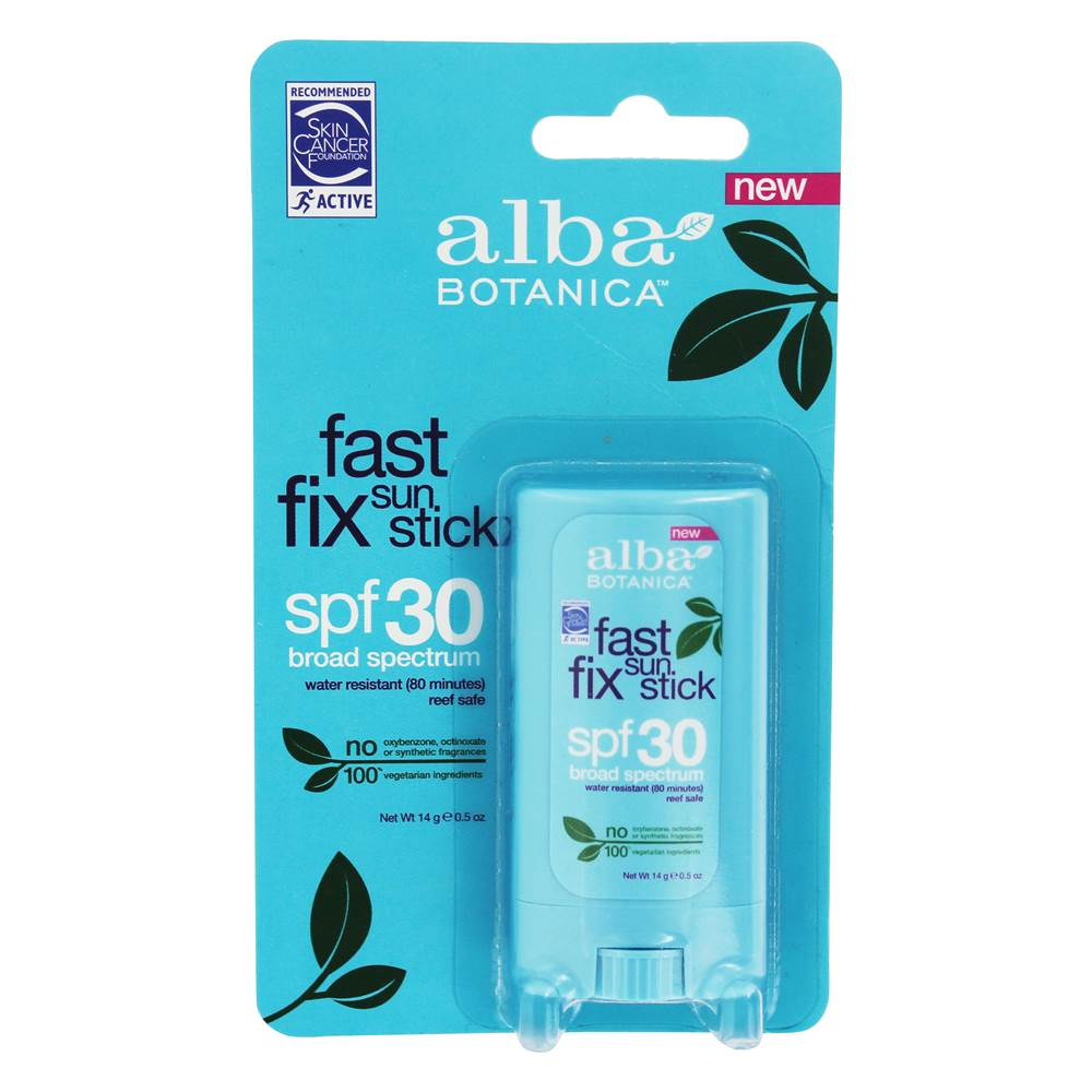 Alba Botanica - Fast Fix Sun Stick Broad Spectrum 30 SPF - 0.5 oz.