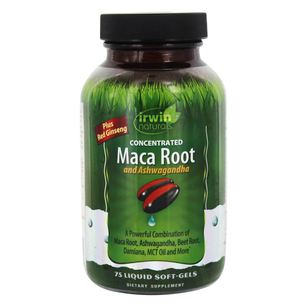 Concentrated Maca Root & Ashwagandha - 75 Liquid Softgels