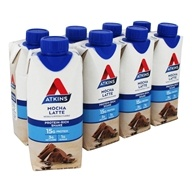RTD Protein-Rich Shakes Value Pack Mocha Latte - 8 Pack by Atkins