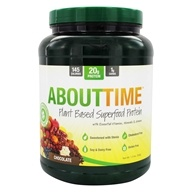 About Time - Plant Based Superfood Protein Powder Chocolate - 1.3 lbs.