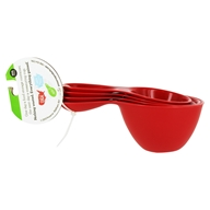 Recycled Plastic Dry Measuring Cups Red - 4 Piece(s)