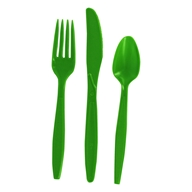 Recycled Plastic Heavy Duty Cutlery Set Apple Green - 24 Piece(s) by Preserve