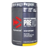 PreWO Perfectly Engineered Pre-Workout Powder 20 Servings Pineapple Orange Crush - 14.11 oz.