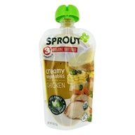 Organic Baby Food Stage 3 8+ Months Creamy Vegetables with Chicken - 4 oz. by Sprout