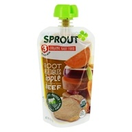 Organic Baby Food Stage 3 8+ Months Root Vegetables Apple with Beef - 4 oz. by Sprout