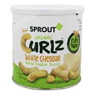 Organic Curlz Toddler Snack White Cheddar - 1.48 oz. by Sprout