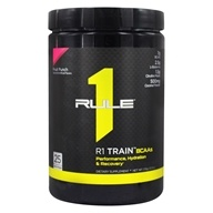 R1 Train BCAAs Powder 25 Servings Fruit Punch - 378 Grams by Rule One Proteins