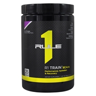 R1 Train BCAAs Powder 25 Servings Icy Grape - 378 Grams by Rule One Proteins