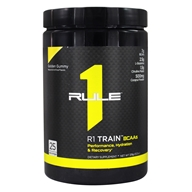 R1 Train BCAAs Powder 25 Servings Golden Gummy - 378 Grams by Rule One Proteins