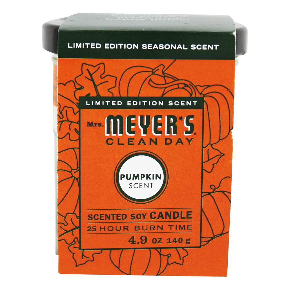 Clean Day Scented Soy Candle Pumpkin - 4.9 oz. by Mrs. Meyer's