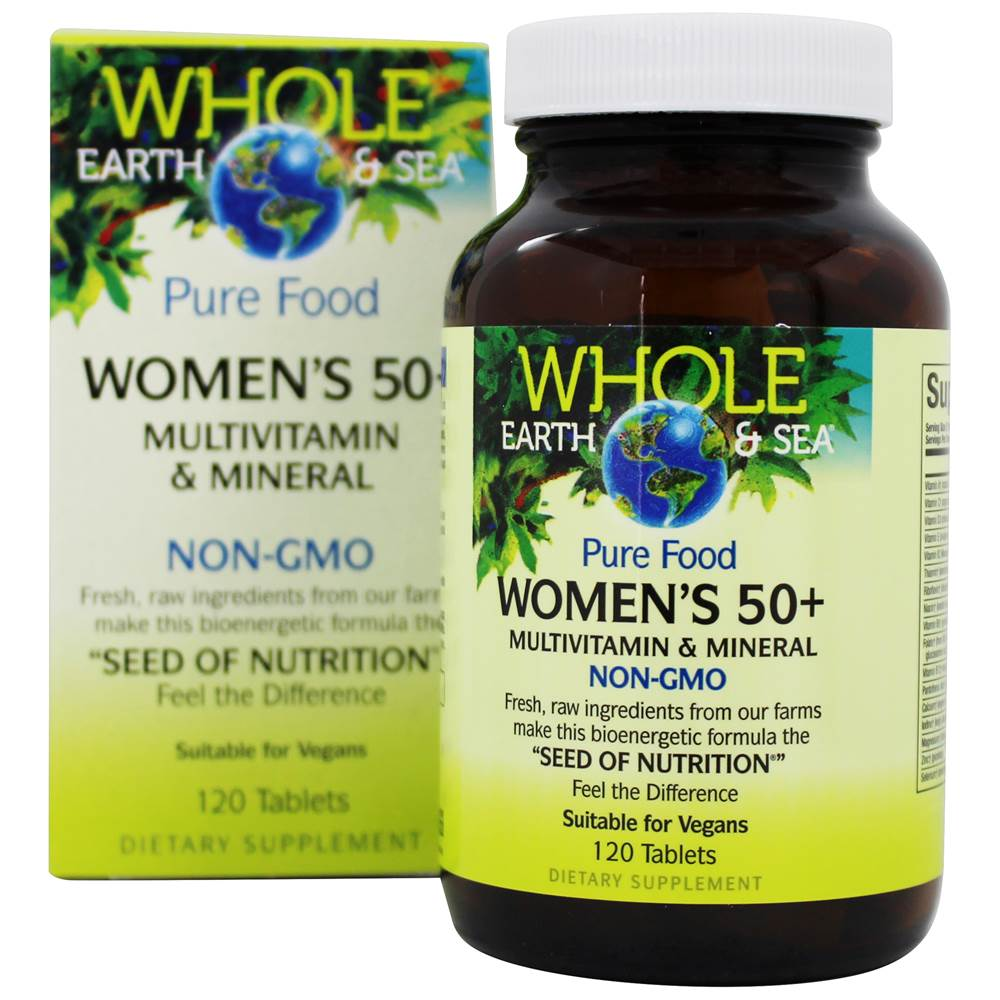 Pure Food Women's 50+ Multivitamin & Mineral - 120 Tablets by Whole Earth & Sea