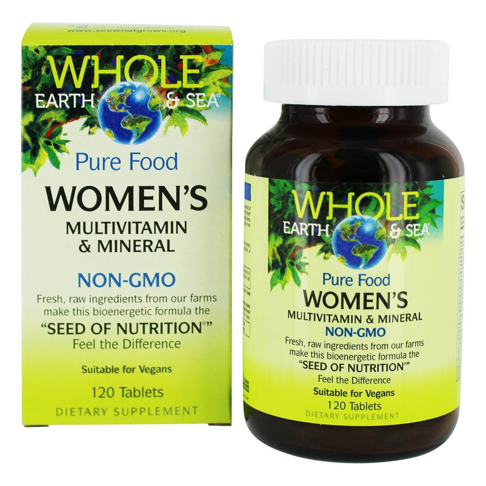Pure Food Women's Multivitamin & Mineral - 120 Tablets by Whole Earth & Sea